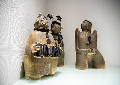 Dekoration Figuren bei Kribus Augenarzt